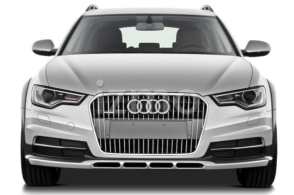 Straight front view of a 2013 Audi A6 Allroad Quattro Wagon