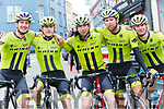 At The Ras Mumhan Cycle Race in Killorglin on Monday were the Rhino Velo Race Team, Chris Pook, Kirk Vickers, Matthew Garthwaite, Rob Saaley and Oliver Hayward