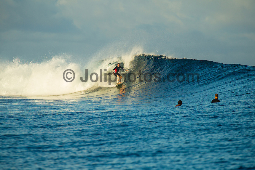 Namotu Island Resort, Fiji. (Friday, August 31, 2012) -   Light winds this morning and with 4' 6' swell  provided  waves at Cloudbreak, Namotu Lefts and Wilkes today. Photo: joliphotos.com