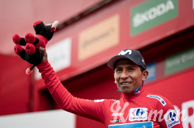 Nairo Quintana (COL/Movistar) is the newest red jersey (overall leader)<br /> <br /> Stage 9: Andorra la Vella to Cortals d'Encamp (94km) - ANDORRA<br /> La Vuelta 2019<br /> <br /> ©kramon