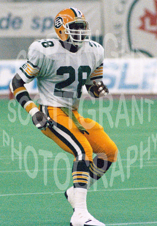 Ron Howard Edmonton Eskimos 1986. Photo John Bradley