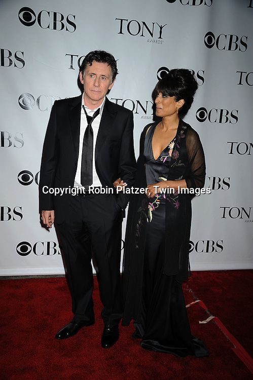 actor Gabriel Byrne and .posing for photographers at the 62nd Annual Tony Awards.on June 15, 2008 at Radio City Music Hall. ..Robin Platzer, Twin Images