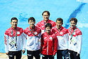 (L-R) Ken Terauchi, Sho Sakai,  Suei Mabuchi, Minami Itahashi, Takamichi Nomura, Takaya Narita (JPN), <br /> AUGUST 18, 2016 - Diving : <br /> Women's 10m Platform Final <br /> at Maria Lenk Aquatic Centre <br /> during the Rio 2016 Olympic Games in Rio de Janeiro, Brazil. <br /> (Photo by Yohei Osada/AFLO SPORT)