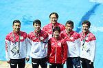(L-R) Ken Terauchi, Sho Sakai,  Suei Mabuchi, Minami Itahashi, Takamichi Nomura, Takaya Narita (JPN), <br /> AUGUST 18, 2016 - Diving : <br /> Women's 10m Platform Final <br /> at Maria Lenk Aquatic Centre <br /> during the Rio 2016 Olympic Games in Rio de Janeiro, Brazil. <br /> (Photo by Yohei Osada/AFLO SPORT)