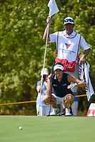 Gerina Piller (USA) looks over her putt on 12 during round 4 of the Volunteers of America Texas Classic, the Old American Golf Club, The Colony, Texas, USA. 10/6/2019.<br /> Picture: Golffile | Ken Murray<br /> <br /> <br /> All photo usage must carry mandatory copyright credit (© Golffile | Ken Murray)