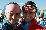 Busra Gunes, Nihan ERDILER TUR competes during the women 7.5 km sprint Biathlon race as part of the Winter Universiade Trentino 2013 on 15/12/2013 in Lago Di Tesero, Italy.<br /> <br /> &copy; Pierre Teyssot - www.pierreteyssot.com