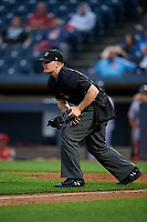 Umpire Thomas Roche during an Eastern League game between the Reading Fightin Phils and Akron RubberDucks on June 4, 2019 at Canal Park in Akron, Ohio.  Akron defeated Reading 8-5.  (Mike Janes/Four Seam Images)