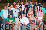 18TH BIRTHADY: Dwyane Dunne, Cloghers (seated 2nd right) celebrating hos 18th birthday with large group of family and friends at Nacey Miles bar on Saturday..   Copyright Kerry's Eye 2008