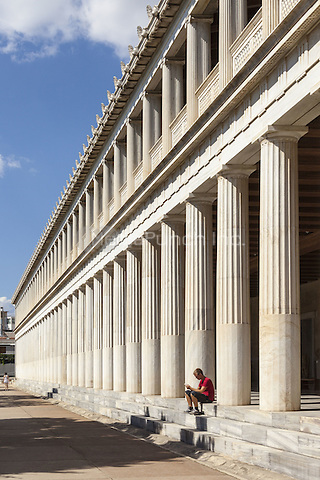 Stoa of Attalos and Agora Museum, Ancient Agora of Athens, Athens, Greece <br /> CAP/MEL<br /> &copy;MEL/Capital Pictures /MediaPunch ***NORTH AND SOUTH AMERICA ONLY***