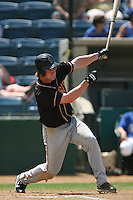 June 15 2007:  Travis Becktel of the Modesto Nuts during game against the Rancho Cucamonga Quakes at The Epicenter in Rancho Cucamonga,CA.  Photo by Larry Goren/Four Seam Image