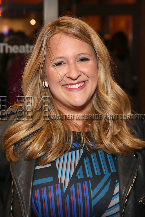 "Lindsey Ferrentino attends the Broadway Opening Night Performance of ""John Lithgow: Stories by Heart"" at the American Airlines Theatre on January 11, 2018 in New York City."