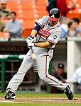 16 May 2007: Atlanta Braves second baseman Kelly Johnson in action against the Washington Nationals at RFK Stadium in Washington, DC. The Nationals rallied to defeat the Braves 6-4 to take a 2-1 lead in their four-game series...Mandatory Photo Credit: Ed Wolfstein Photo
