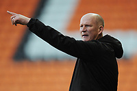 Blackpool manager Simon Grayson shouts instructions to his team from the dug-out <br /> <br /> Photographer Kevin Barnes/CameraSport<br /> <br /> Emirates FA Cup Second Round - Blackpool v Maidstone United - Sunday 1st December 2019 - Bloomfield Road - Blackpool<br />  <br /> World Copyright © 2019 CameraSport. All rights reserved. 43 Linden Ave. Countesthorpe. Leicester. England. LE8 5PG - Tel: +44 (0) 116 277 4147 - admin@camerasport.com - www.camerasport.com