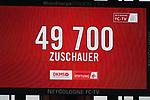 01.12.2018, RheinEnergieStadion, Koeln, GER, 2. FBL, 1.FC Koeln vs. SpVgg Greuther Fürth,<br />  <br /> DFL regulations prohibit any use of photographs as image sequences and/or quasi-video<br /> <br /> im Bild / picture shows: <br /> 49700 Zuschauer<br /> <br /> Foto © nordphoto / Meuter