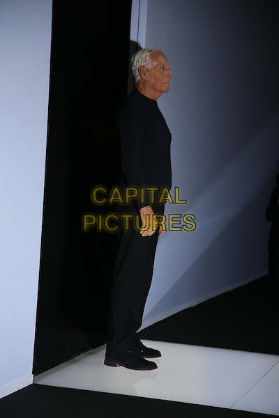 GIORGIO ARMANI <br /> Milan Fashion Week 2016 &ndash; AW16-17  Ready-To-Wear<br /> in Milan, Italy February 28, 2016.<br /> CAP/GOL<br /> &copy;GOL/Capital Pictures