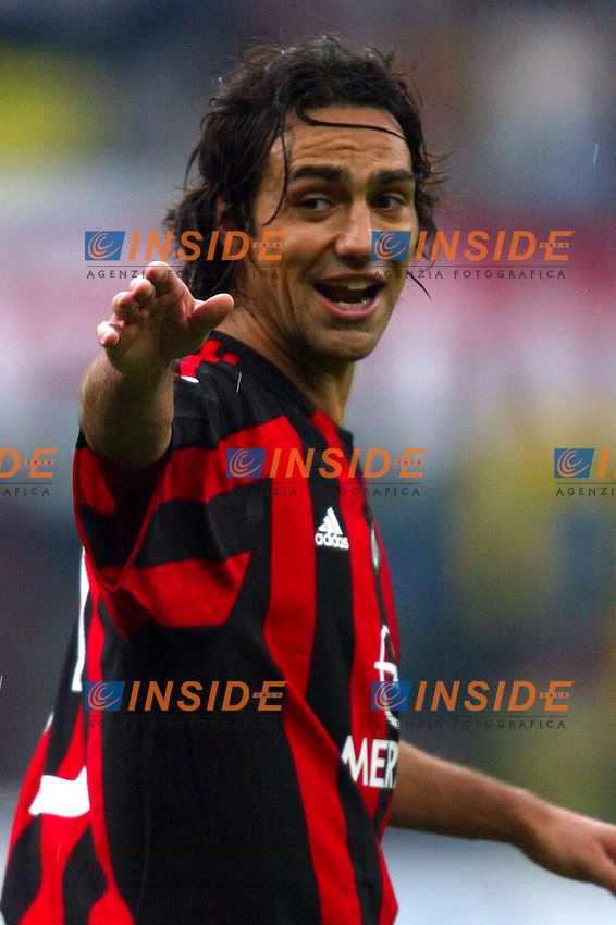Milano 2/5/2004 Campionato Italiano Serie A - Matchday 32<br /> Milan Roma 1-0 <br /> Milan Campione d'Italia - Milan wins italian championship <br /> Alessandro Nesta (Milan)