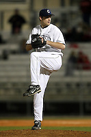 February 21, 2009:  Pitcher Doug Jennings (36) of the University of Connecticut during the Big East-Big Ten Challenge at Jack Russell Stadium in Clearwater, FL.  Photo by:  Mike Janes/Four Seam Images
