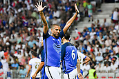 June 17th 2017; Allianz Riviera, Nice, France; Legends football international, France versus Italy;  David Trezeget (France) celebrate the goal