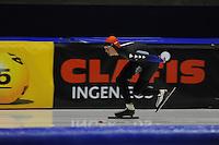 SCHAATSEN: HEERENVEEN: 24-10-2014, IJsstadion Thialf, Trainingswedstrijd, Remon Kwant, ©foto Martin de Jong