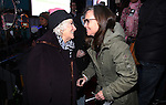 Betty Buckley and Sally Field attend The Ghostlight Project to light a light and make a pledge to stand for and protect the values of inclusion, participation, and compassion for everyone - regardless of race, class, religion, country of origin, immigration status, (dis)ability, gender identity, or sexual orientation at The TKTS Stairs on January 19, 2017 in New York City.