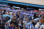 Deportivo de la Coruña´s supporters holding scarfs during 2014-15 La Liga match between Atletico de Madrid and Deportivo de la Coruña at Vicente Calderon stadium in Madrid, Spain. November 30, 2014. (ALTERPHOTOS/Victor Blanco)