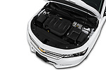 Car stock 2018 Chevrolet Impala 1LT 4 Door Sedan engine high angle detail view