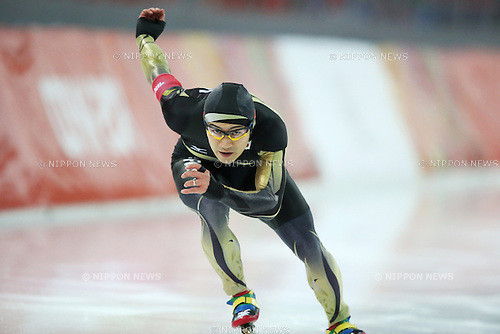 Joji Kato (JPN), <br /> FEBRUARY 10, 2014 - Speed Skating : <br /> Men's 500m <br /> at &quot;ADLER ARENA&quot; Speed Skating Center <br /> during the Sochi 2014 Olympic Winter Games in Sochi, Russia. <br /> (Photo by Koji Aoki/AFLO SPORT) [0008]