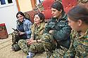 Iraq 2015 Moment of relaxetion for young women, Yezidi fighters, one of them singing PKK songs<br />Irak 2015 Moment de d&eacute;tente pour des combattantes Yezidi, l&rsquo;une d&rsquo;elle chante des chants du PKK