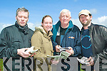 Getting to the point: At the North Kerry Harriers Point to Point in Ballybunion on Sunday were Pat Keane and Sorcha Keane, Lixnaw, Mick Spillane, Killarney and Frank Keane, Lixnaw.