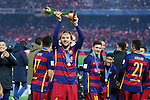 Ivan Rakitic (Barcelona), <br /> DECEMBER 20, 2015 - Football / Soccer : <br /> FIFA Club World Cup Japan 2015 <br /> award ceremony  <br /> at Yokohama International Stadium in Kanagawa, Japan.<br /> (Photo by Yohei Osada/AFLO SPORT)