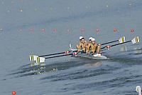 Brest, Belarus.  AUS LM4- , at the start, 2010. FISA U23 Championships. Friday,  23/07/2010.  [Mandatory Credit Peter Spurrier/ Intersport Images]