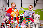 Eileen O'Sullivan and Patricia Barry of Listowel Crafts  at the An Riocht Snowed In winter wonderland, craft fair Castleisland on Friday