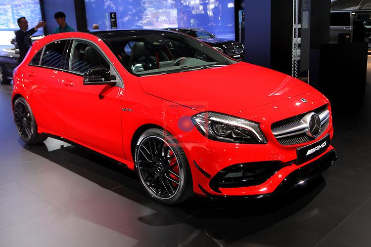 Automobile Barcelona 2017.<br /> Stand Mercedes.