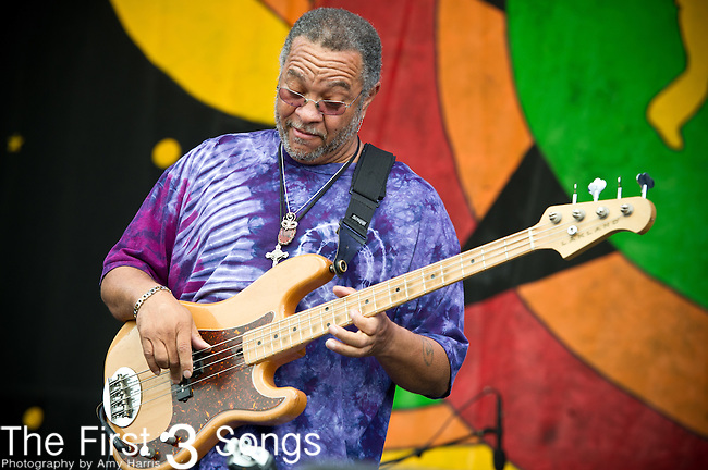 George Porter Jr. & Runnin' Pardners perform during the New Orleans Jazz & Heritage Festival in New Orleans, LA.