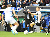 30th September 2017, Madejski Stadium, Reading, England; EFL Championship football, Reading versus Norwich City; Jaap Stam of Reading takes issue with a decision