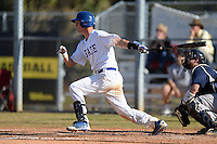South Dakota State JackRabbits catcher Reid Clary (14) at bat during a game against the Georgetown Hoyas at South County Regional Park on March 9, 2014 in Port Charlotte, Florida.  Georgetown defeated South Dakota 7-4.  (Mike Janes/Four Seam Images)