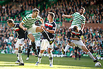 Charlie Mulgrew and Lassad Nouloui causing chaos in the box