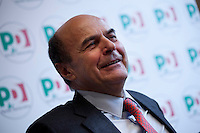 Milano: Pierluigi Bersani partecipa ad una conferenza stampa