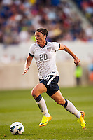 United States (USA) forward Abby Wambach (20). The women's national team of the United States defeated the Korea Republic 5-0 during an international friendly at Red Bull Arena in Harrison, NJ, on June 20, 2013.