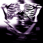 abstract photo illustration of ribs and torso of human skeleton