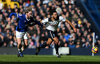Tottenham Hotspur's Mousa Dembele and Everton's Tom Davies<br /> <br /> Photographer Rob Newell/CameraSport<br /> <br /> The Premier League - Tottenham Hotspur v Everton - Sunday March 5th 2017 - White Hart Lane - London<br /> <br /> World Copyright &copy; 2017 CameraSport. All rights reserved. 43 Linden Ave. Countesthorpe. Leicester. England. LE8 5PG - Tel: +44 (0) 116 277 4147 - admin@camerasport.com - www.camerasport.com