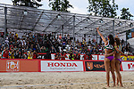 31.05.2015, Moskau, Vodny Stadion<br /> Moskau Grand Slam, Main Draw / Finale<br /> <br /> Jubel Talita Antunes (#2 BRA), Larissa Franca (#1 BRA) nach Sieg<br /> <br />   Foto &copy; nordphoto / Kurth