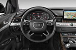 Car pictures of steering wheel view of a 2015 Audi A8 3.0T SWB quattro tiptronic 4 Door Sedan