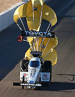 Feb 26, 2016; Chandler, AZ, USA; NHRA top fuel driver Antron Brown during qualifying for the Carquest Nationals at Wild Horse Pass Motorsports Park. Mandatory Credit: Mark J. Rebilas-USA TODAY Sports