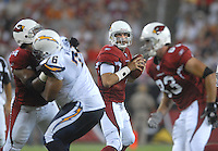 Aug 25, 2007; Glendale, AZ, USA; Arizona Cardinals quarterback Matt Leinart (7) throws a pass in the second quarter against the San Diego Chargers at University of Phoenix Stadium. San Diego defeated Arizona 33-31. Mandatory Credit: Mark J. Rebilas-US PRESSWIRE Copyright © 2007 Mark J. Rebilas