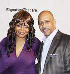 """All My Children's Tonya Pinkins """"Livie Frye"""" and As The World Turns poses with Ruben Santiago-Huson (All My Children & Another World) on Opening Night on February 27, 2012 as she stars in Hurt Village at The Pershing Square Signature Center, New York City, New York.  (Photo by Sue Coflin/Max Photos)"""