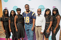 Lachelle Johnson, Riqua Hailes, Honorable Mayor Butts, Councilman Franklin 4th District, Joy Landrum, Shamica Simmons, and Tanika Durham attend Just Weaves By Just Extensions Opens Up Its First Premium Weaving Installation Store In Inglewood, California