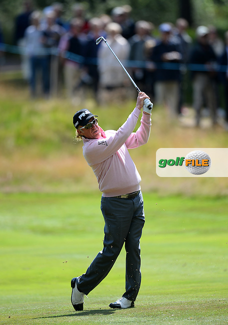 Miguel Angel Jimenez of Spain during the Second Round of The Senior Open at Sunningdale Golf Club, Sunningdale, England. Picture: Golffile | Richard Martin-Roberts<br /> All photo usage must carry mandatory copyright credit (&copy; Golffile | Richard Martin- Roberts)