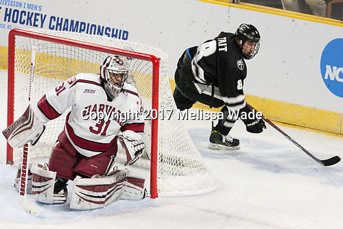 Merrick Madsen (Harvard - 31), Ryan Tait (PC - 8) - The Harvard University Crimson defeated the Providence College Friars 3-0 in their NCAA East regional semi-final on Friday, March 24, 2017, at Dunkin' Donuts Center in Providence, Rhode Island.