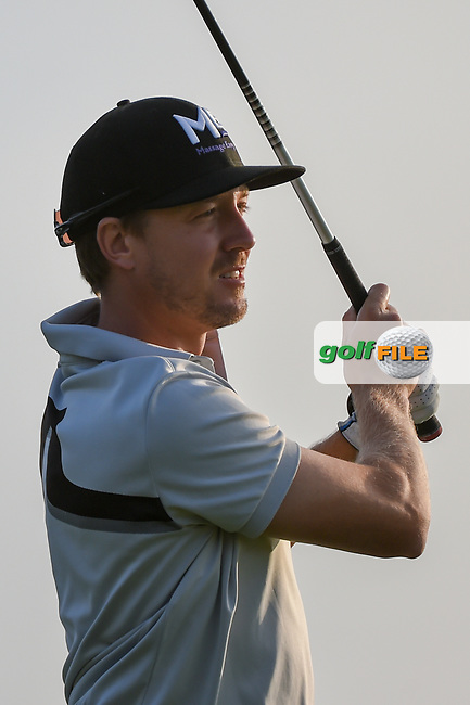 Jonas Blixt (SWE) watches his tee shot on 11 during day 1 of the Valero Texas Open, at the TPC San Antonio Oaks Course, San Antonio, Texas, USA. 4/4/2019.<br /> Picture: Golffile   Ken Murray<br /> <br /> <br /> All photo usage must carry mandatory copyright credit (© Golffile   Ken Murray)